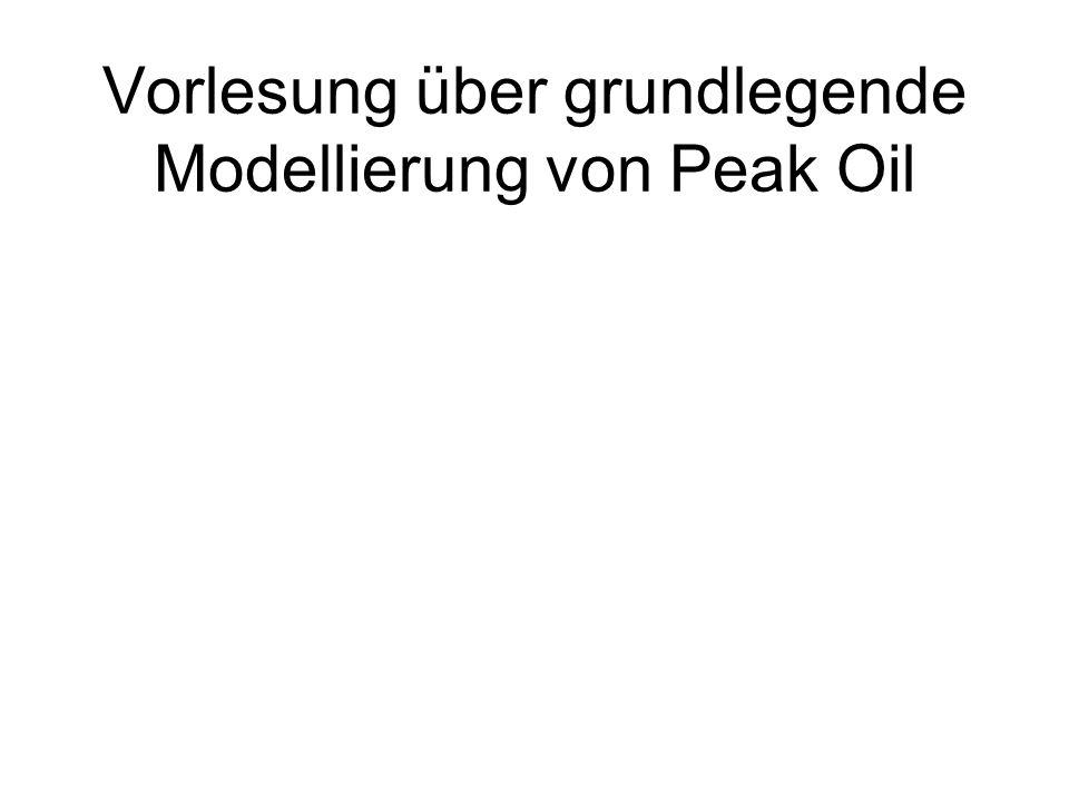 Vorlesung über grundlegende Modellierung von Peak Oil