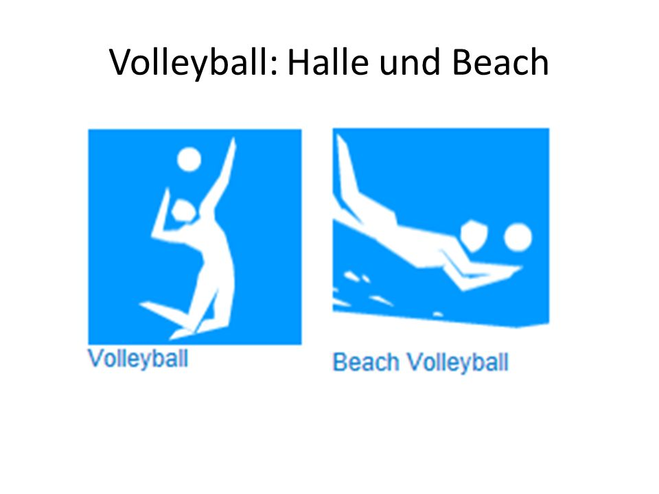 Volleyball: Halle und Beach