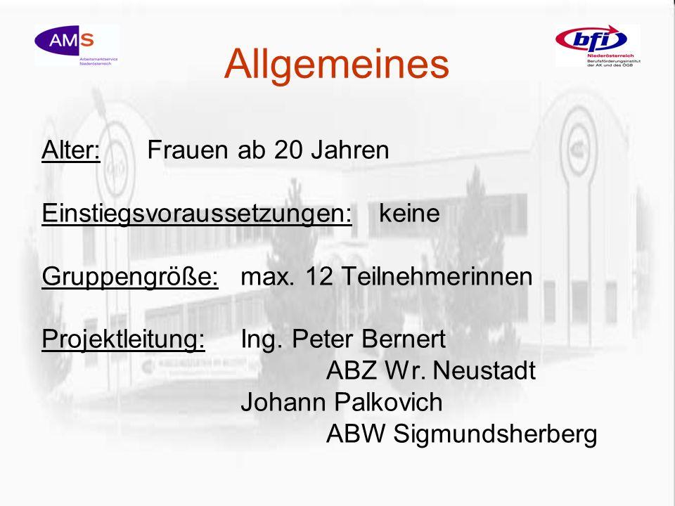 Termine 1.Informationstag:23.08.2005 ABW 30.08.2005 ABZ 2.