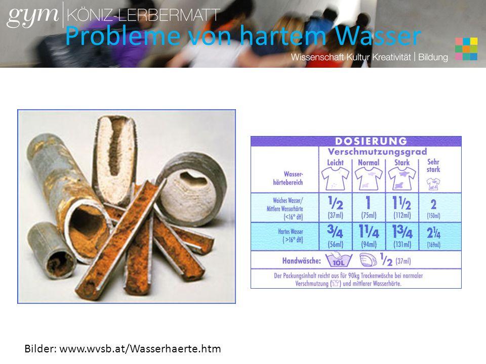 Probleme von hartem Wasser Bilder: www.wvsb.at/Wasserhaerte.htm
