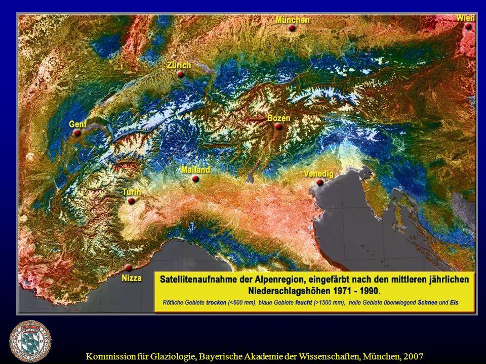 Nicht vergletschert (Brixentaler Ache, 320 km²) vergletschert (Ötztaler Ache/Sölden, 375 km²) Sommerabfluss 1998, Zubringer Inn May June July Aug.