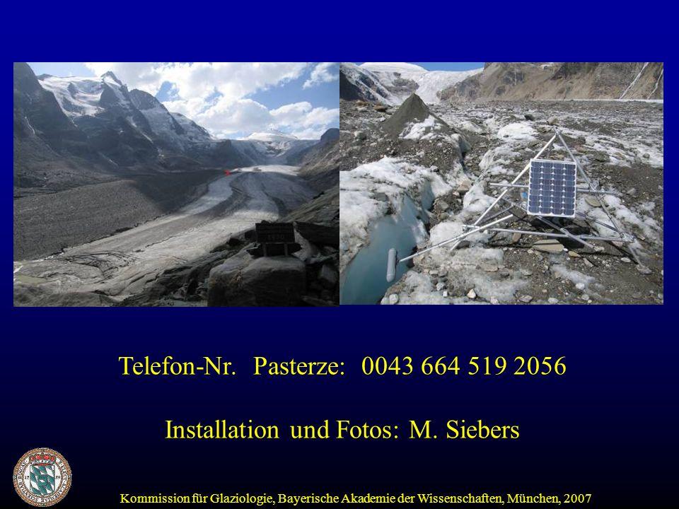 Kommission für Glaziologie, Bayerische Akademie der Wissenschaften, München, 2007 Telefon-Nr.