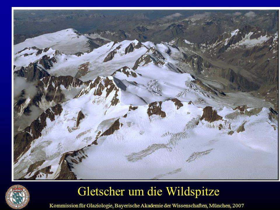 Kommission für Glaziologie, Bayerische Akademie der Wissenschaften, München, 2007 Gletscher um die Wildspitze