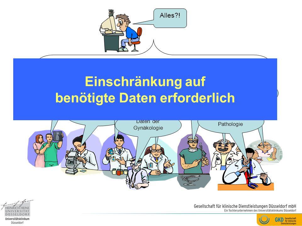 Daten der Radiologie / Strahlentherapie Daten der Labormedizin Daten der Inneren Medizin Daten der Psychologische n Betreuung Daten der Chirurgie Date
