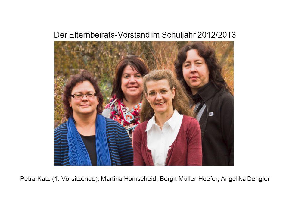 Der Elternbeirats-Vorstand im Schuljahr 2012/2013 Petra Katz (1.
