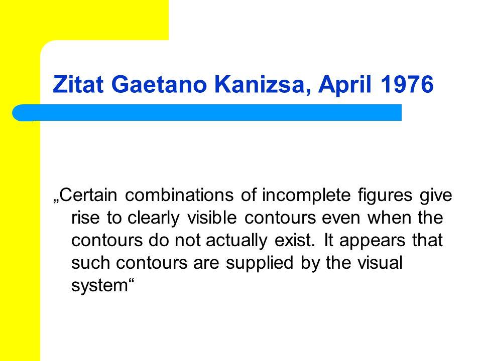 Klausurfragen Beschreiben Sie 3 beliebige Charakteristika von subjektiven Konturen und/oder Flächen nach Kanizsa Was meint Kanizsa mit Stimmigkeit bei der Erschaffung visueller Konturen.