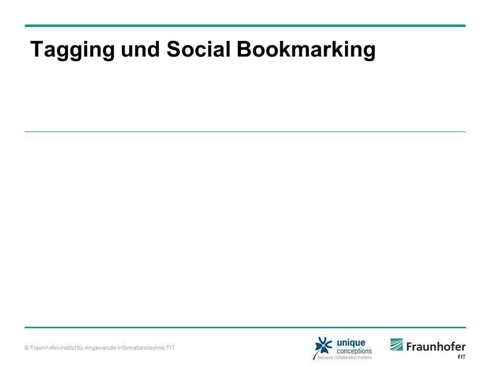 © Fraunhofer-Institut für Angewandte Informationstechnik FIT Tagging und Social Bookmarking