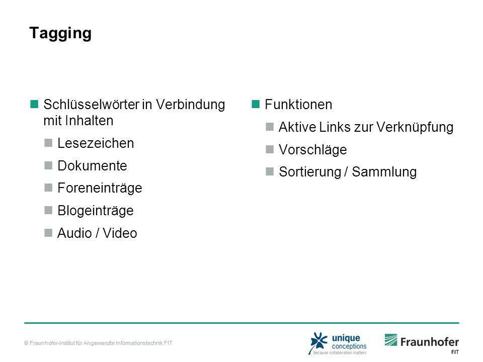 © Fraunhofer-Institut für Angewandte Informationstechnik FIT Beispiele YouTube Flickr