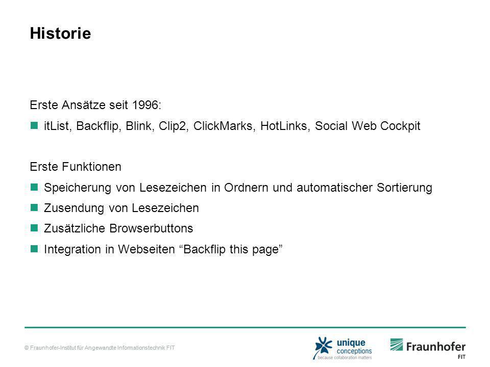 © Fraunhofer-Institut für Angewandte Informationstechnik FIT Demo: Social Bookmarking am Beispiel von deli.ico.us