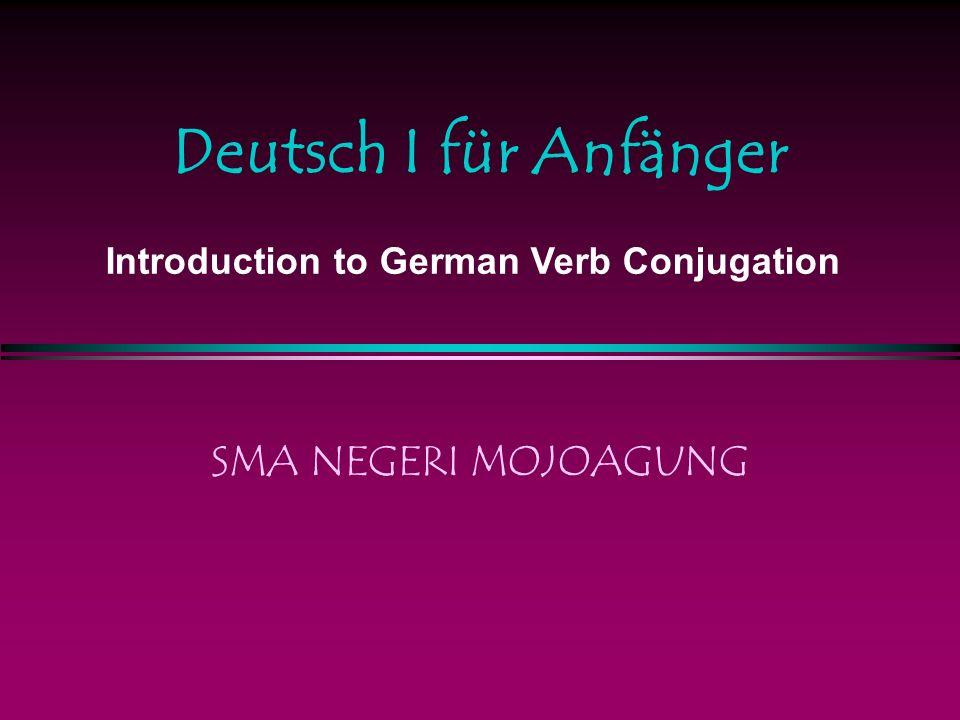 Verb Conjugation Er heisst Heinrich.Er lernt Deutsch Er heisst Peter.