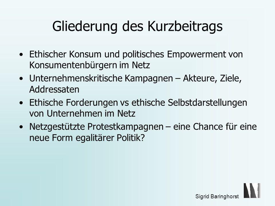 Sigrid Baringhorst Ethischer Konsum – empirische Evidenzen Ernst&Young 2007 http://www.ey.com/Global/content.nsf/Germany/Presse_-_Pressemitteilungen_2007_-_LOHAS