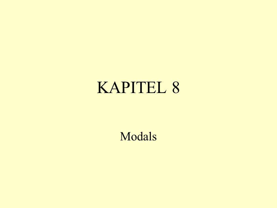 KAPITEL 8 Modals