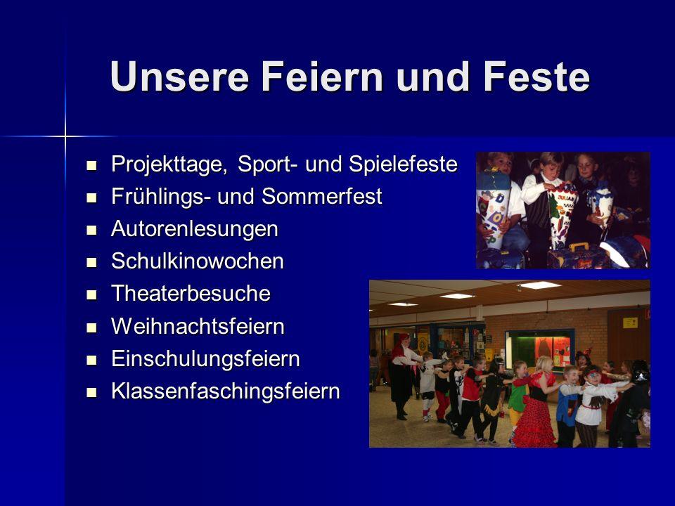 Unsere Feiern und Feste Unsere Feiern und Feste Projekttage, Sport- und Spielefeste Projekttage, Sport- und Spielefeste Frühlings- und Sommerfest Früh