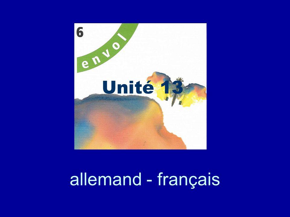 allemand - français Unité 13