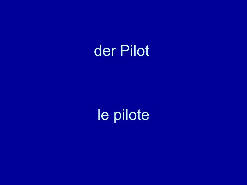 der Pilot le pilote