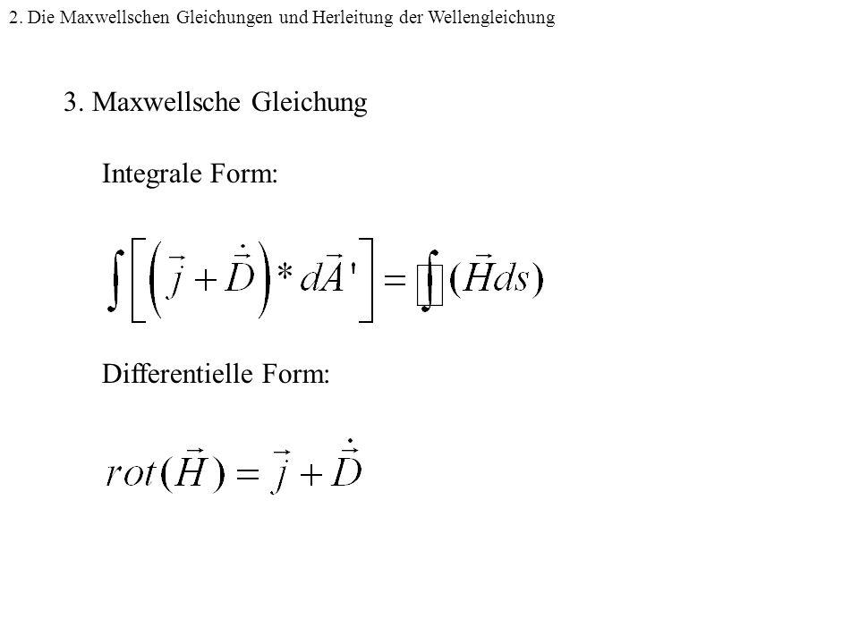 2.Die Maxwellschen Gleichungen und Herleitung der Wellengleichung 3.