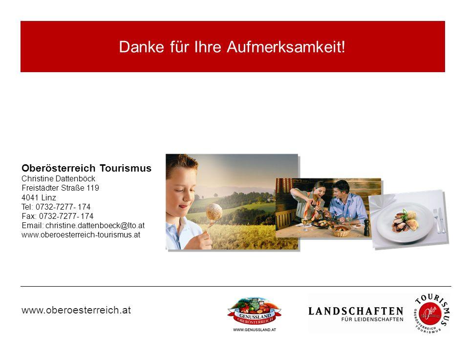 www.oberoesterreich.at Danke für Ihre Aufmerksamkeit.