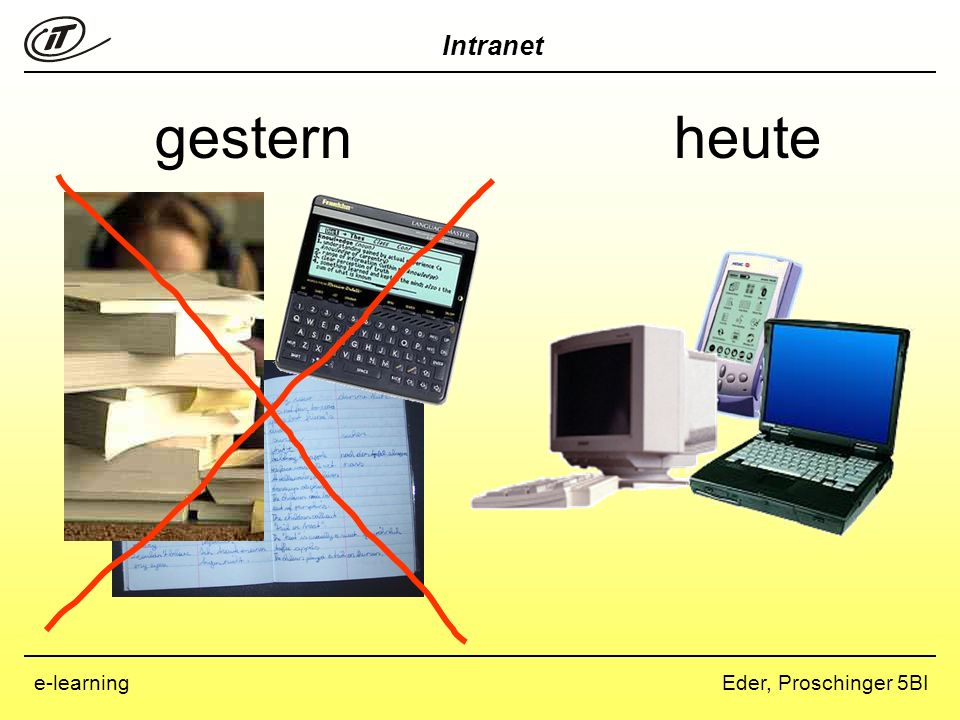 Intranet Eder, Proschinger 5BIe-learning gesternheute