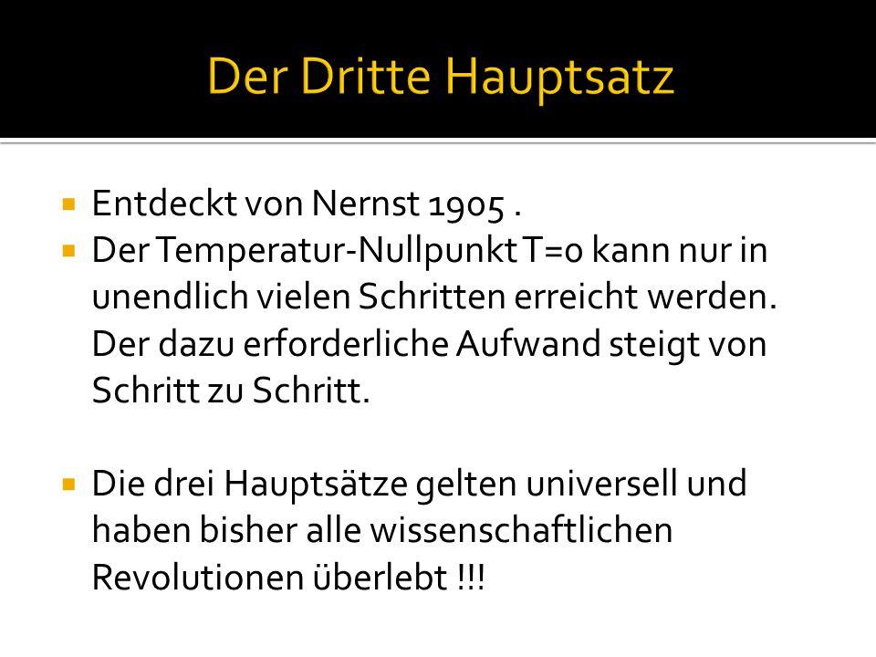 Entdeckt von Nernst 1905.