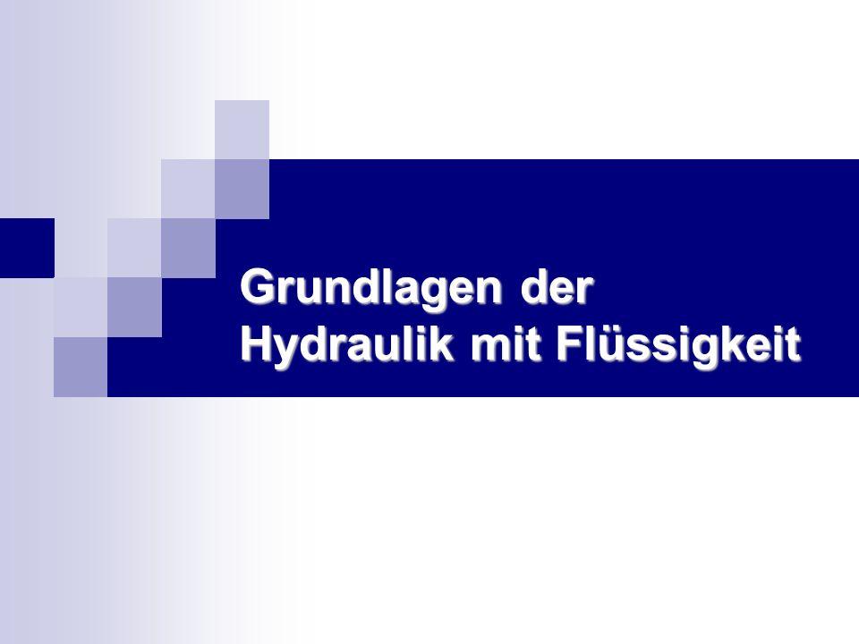 Grundlagen der Hydraulik mit Flüssigkeit