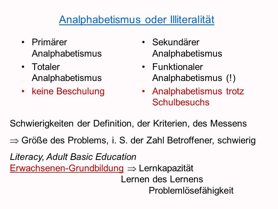 Grundbildung - aber was und wie.
