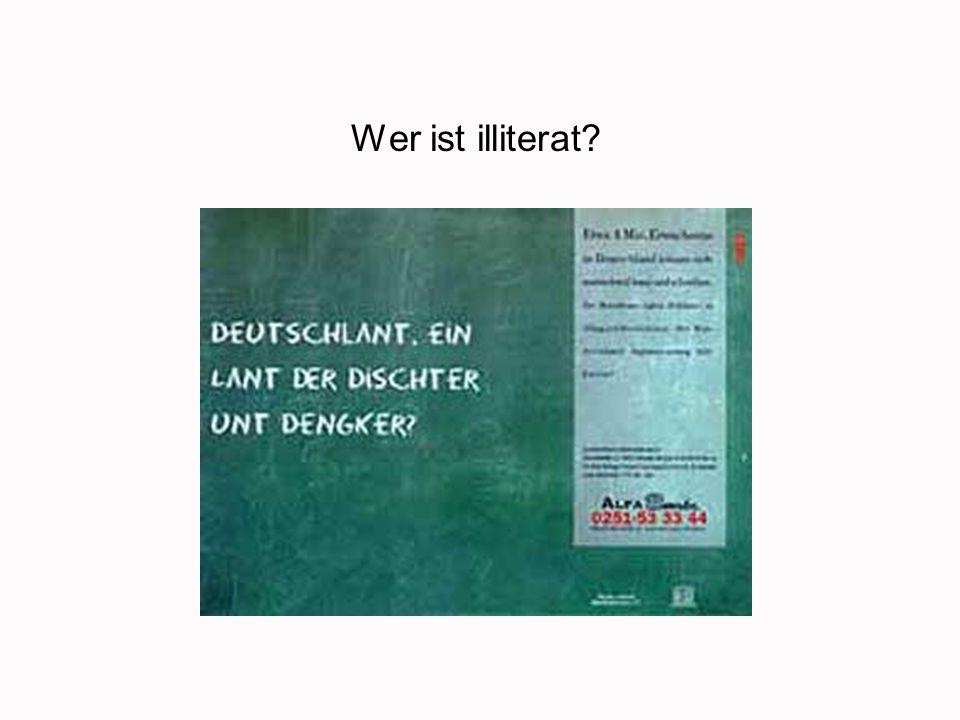 Wer ist illiterat?