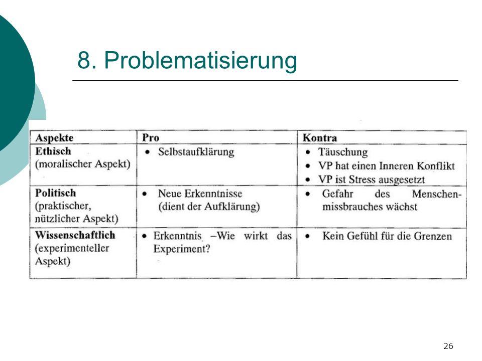 26 8. Problematisierung