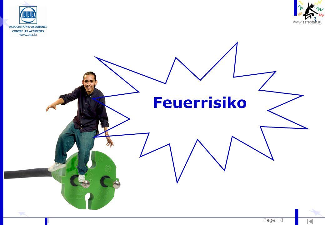 www.safestart.lu Page: 18 Feuerrisiko