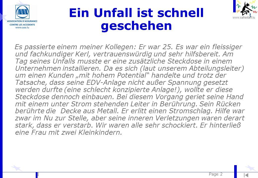 www.safestart.lu Page: 33 Lärm Risiko: l Bohrer, Nutfräser usw.