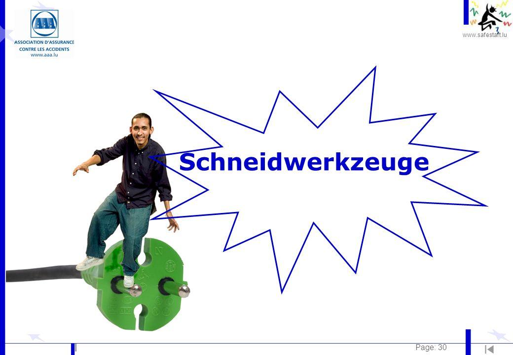 www.safestart.lu Page: 30 Schneidwerkzeuge