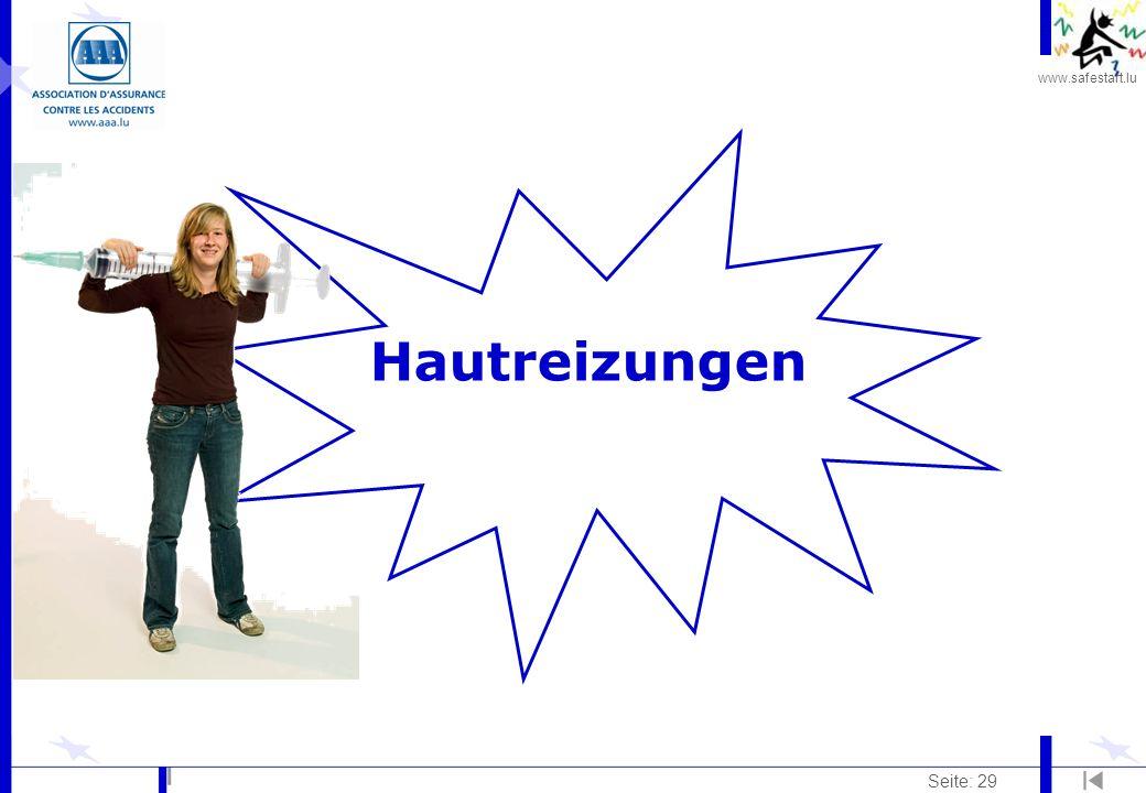 www.safestart.lu Seite: 29 Hautreizungen