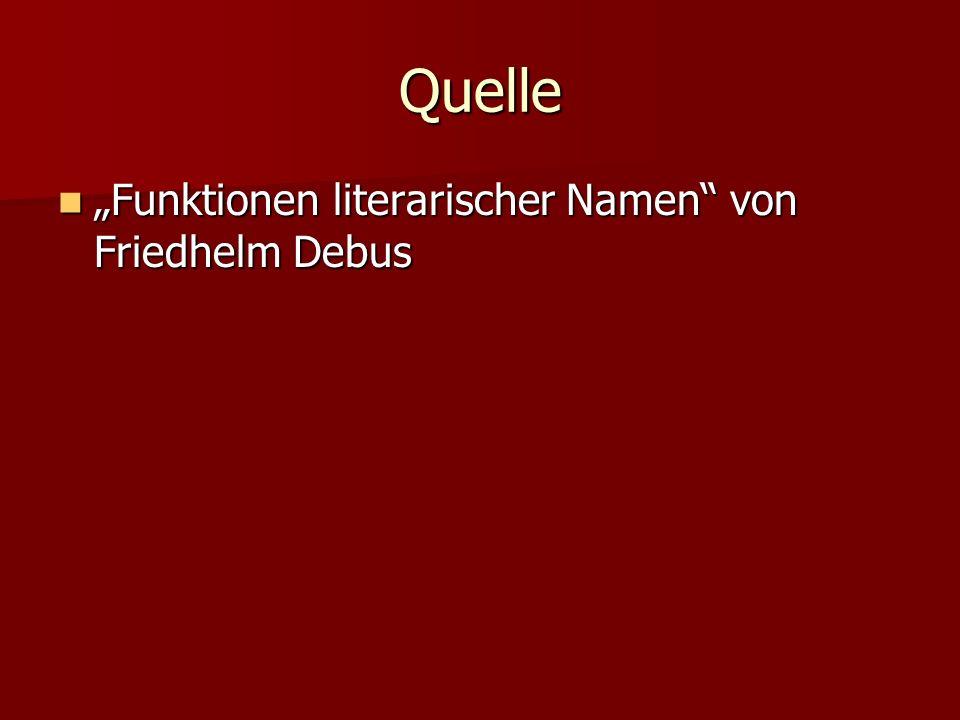 Quelle Funktionen literarischer Namen von Friedhelm Debus Funktionen literarischer Namen von Friedhelm Debus