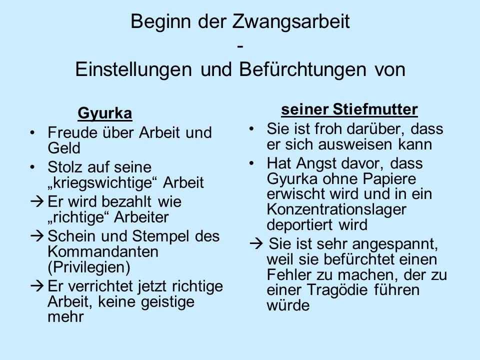 Ziegelei Arbeitseinsatz in Deutschland ein Abenteuer Vollkommenes Ausblenden der Greuelerzählungen Ausführliche Schilderung: positive deutsche Eigenschaften Ausblenden der negativen Informationen