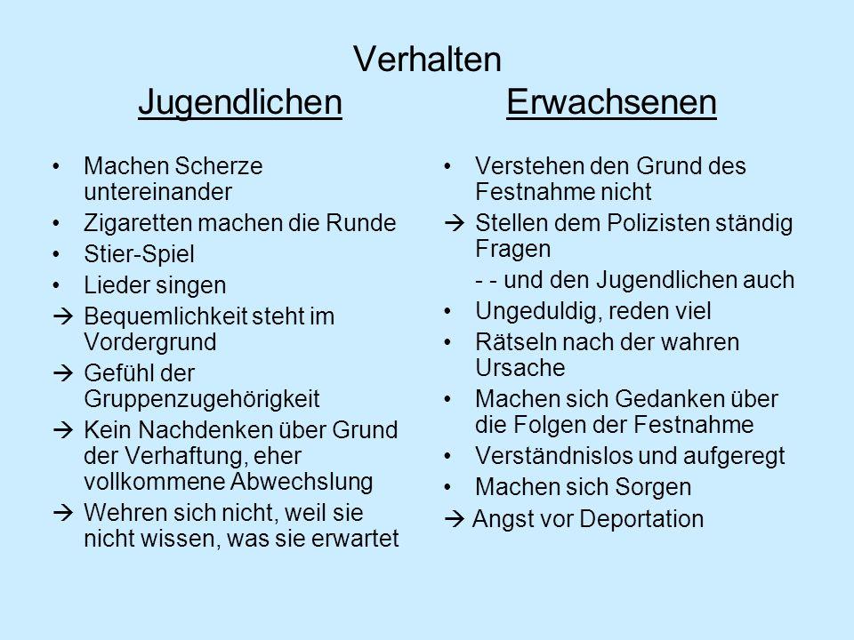 (In der Ziegelei) - Fakten über die Deutschen positiv negativ Saubere, anständige Menschen, die Ordnung, Pünktlichkeit und Arbeit lieben -- mögen es bei anderen die gleichen Eigenschaften festzustellen -Gott spielt eine tragende Rolle Deutsche sorgen in Lagern für eine akkurate Ordnung und effiziente Organisation Viele Menschen reagieren den Deutschen gegenüber misstrauisch - - sie sind von anderwertigen Eigenschaften informiert