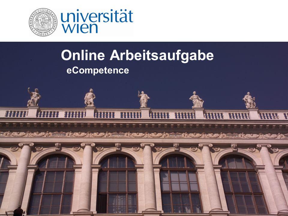 Online Arbeitsaufgabe eCompetence