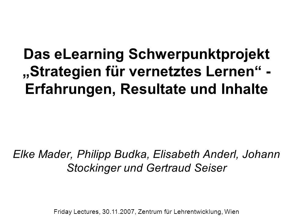 Begriffsdatenbank II www.univie.ac.at/ksa/elearning Friday Lectures, 30.11.2007, Zentrum für Lehrentwicklung, Wien