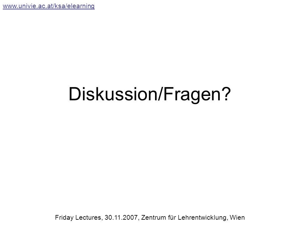 Diskussion/Fragen.