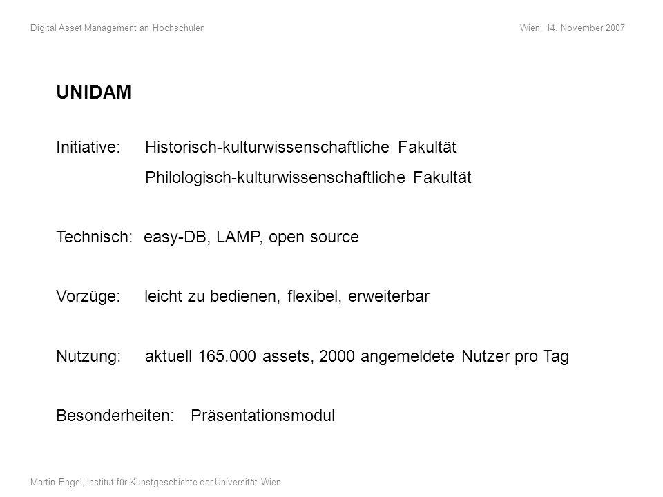 Screenshot 1: Einfache Suche. Anzeige des Results auf dem Leuchttisch und in der Detailansicht