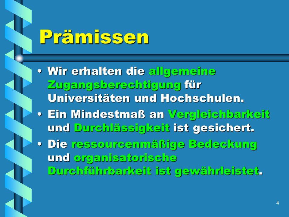 5 Kurssystem oder modulare Oberstufe- 1.Grundlagen Reform betrifft 6.-8.
