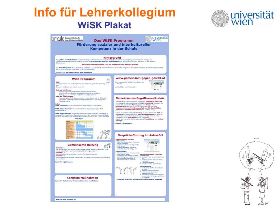 Info für Lehrerkollegium WiSK Plakat