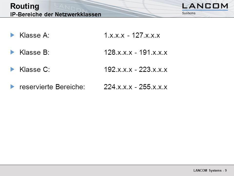 LANCOM Systems - 10 Routing Warum Subnetting.