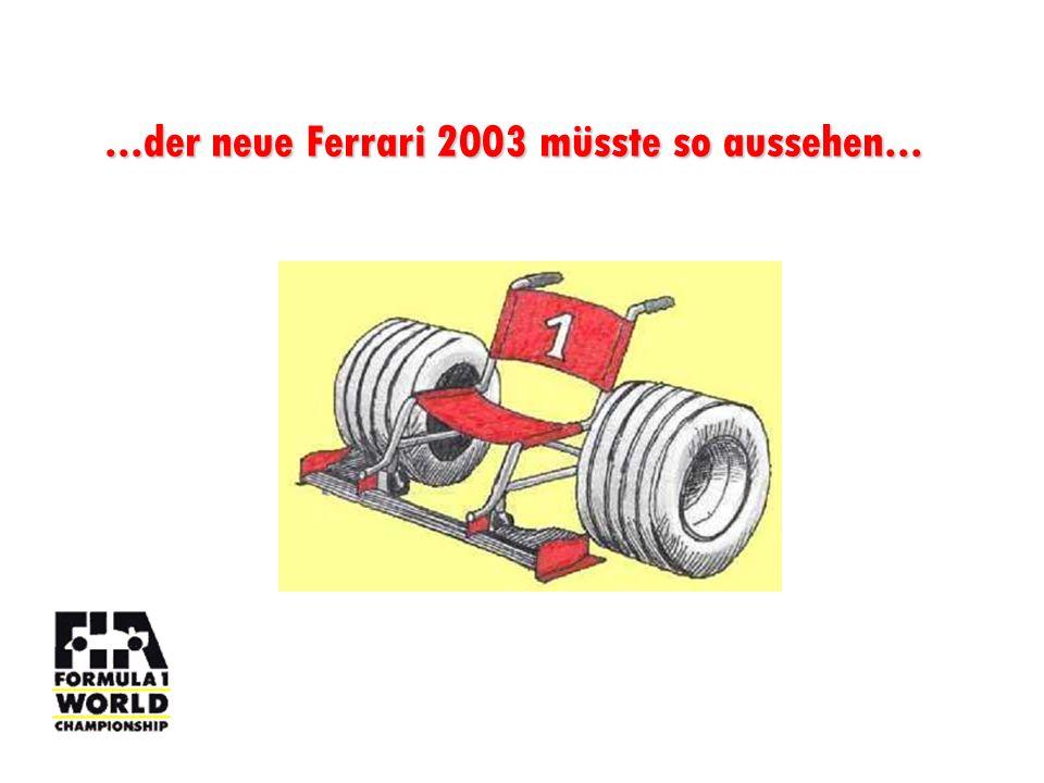 ...oder aber Ferrari fährt mit einem klitzekleinen Handikap...