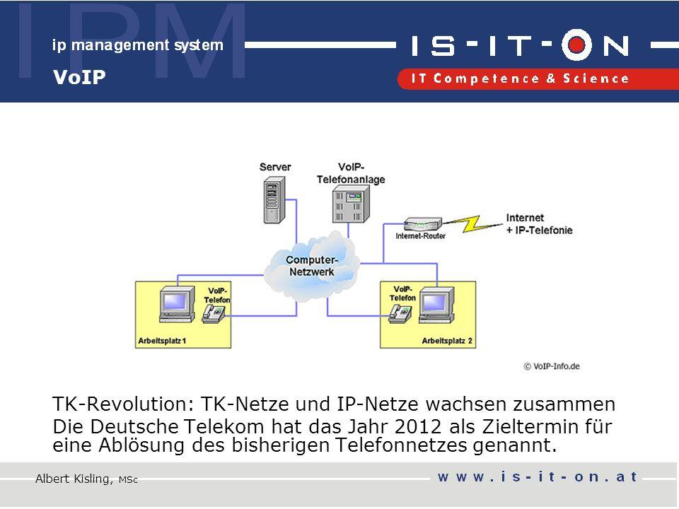 TK-Revolution: TK-Netze und IP-Netze wachsen zusammen Die Deutsche Telekom hat das Jahr 2012 als Zieltermin für eine Ablösung des bisherigen Telefonnetzes genannt.