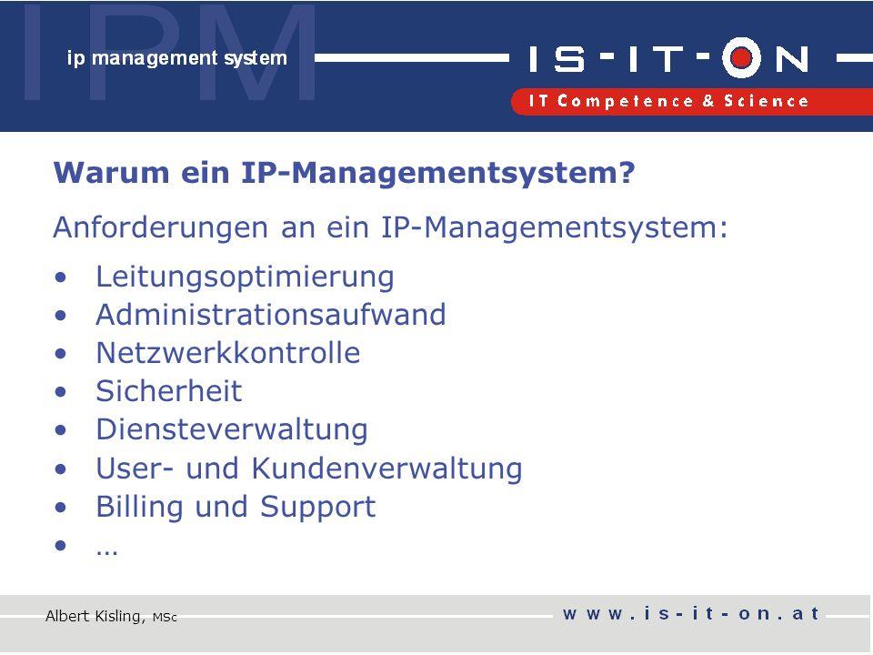 Warum ein IP-Managementsystem.