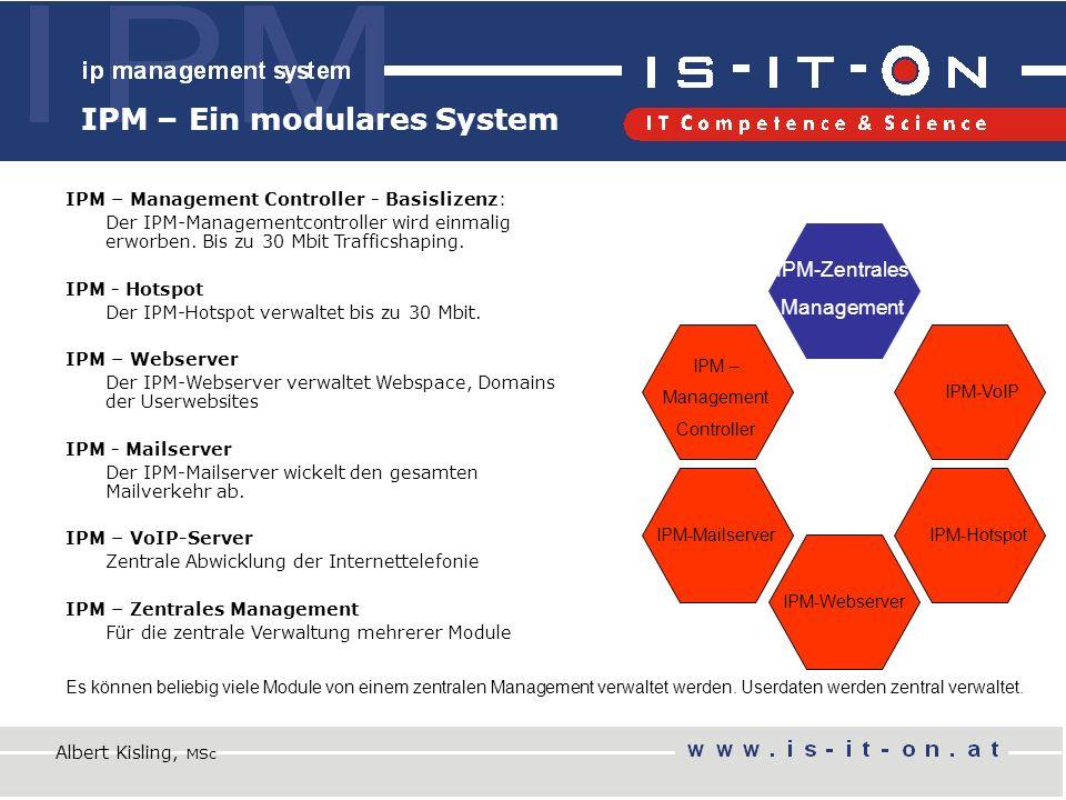 IPM – Ein modulares System IPM – Management Controller - Basislizenz: Der IPM-Managementcontroller wird einmalig erworben.