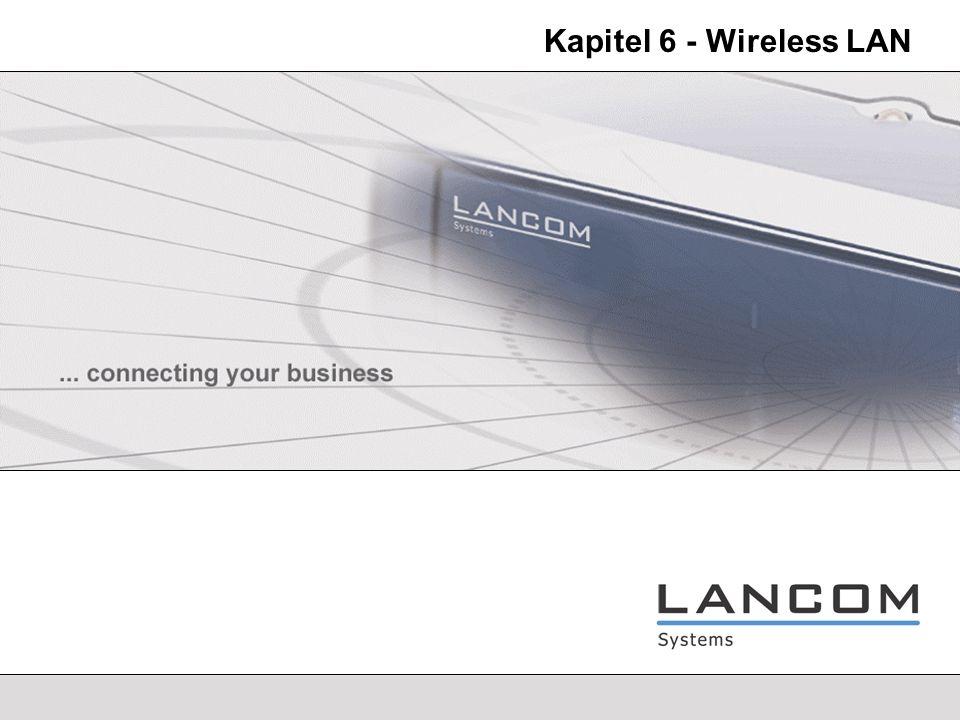 LANCOM Systems - 3 Wireless LAN 802.11x 802.11 Bis zu 2 Mbit/s (1,5 Mbit/s netto) Frequenzband 2,4-2,48 GHz 802.11b Bis zu 11 Mbit/s (5,2 Mbit/s netto) Frequenzband 2,4-2,48 GHz Das optionale PBCC/22-Modulationsverfahren erzielt bis zu 6 Mbit/s Datendurchsatz