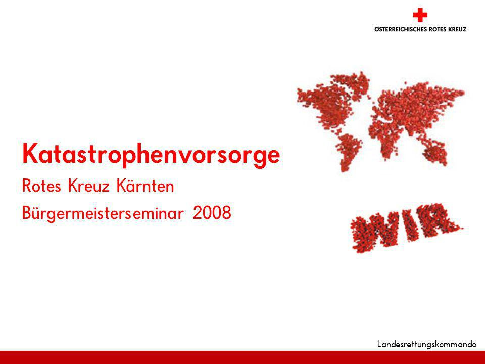 Landesrettungskommando Katastrophenvorsorge Rotes Kreuz Kärnten Bürgermeisterseminar 2008