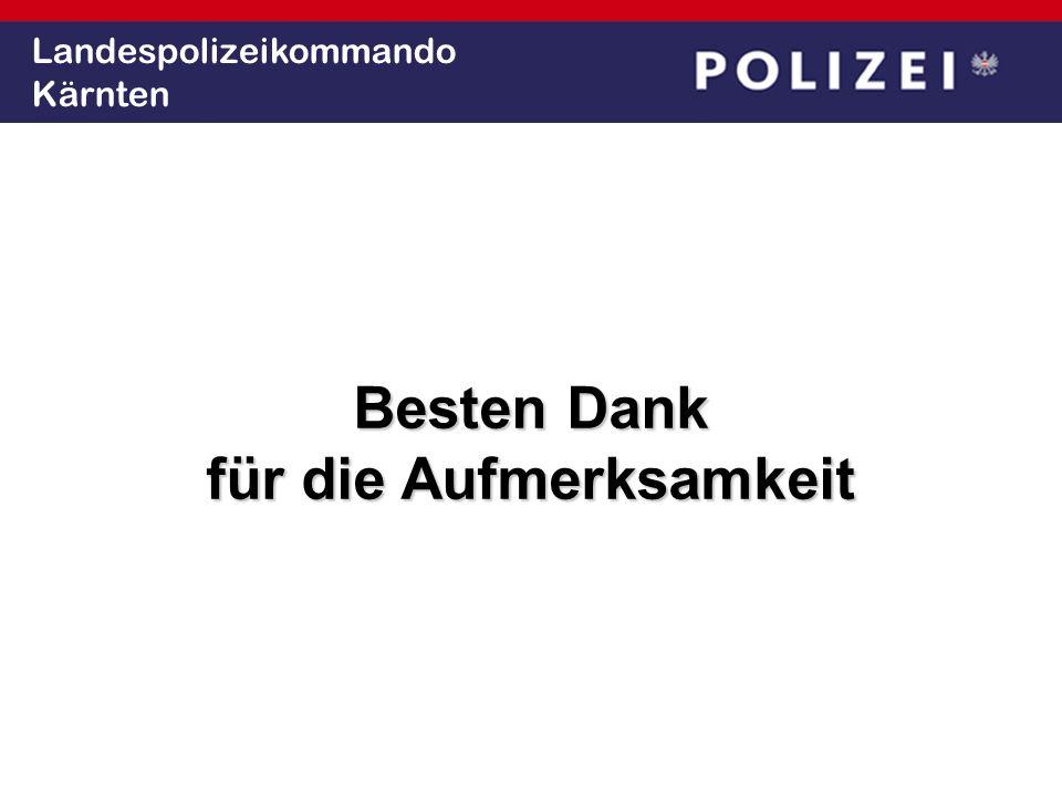 Landespolizeikommando Kärnten Besten Dank für die Aufmerksamkeit