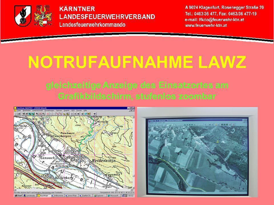 NOTRUFAUFNAHME LAWZ Überprüft Anruferdaten übernimmt Notrufdaten in den Einsatzleitrechner LAWZ-Bediener