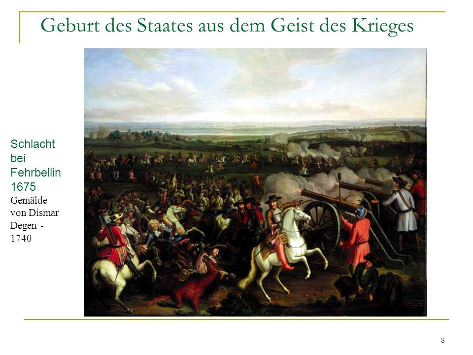 8 Geburt des Staates aus dem Geist des Krieges Schlacht bei Fehrbellin 1675 Gemälde von Dismar Degen - 1740